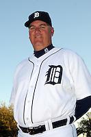 Feb 21, 2009; Lakeland, FL, USA; The Detroit Tigers coach Rick Knapp (52) during photoday at Tigertown. Mandatory Credit: Tomasso De Rosa/ Four Seam Images