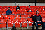 Dingle GAA Ronan McCarthy (Chairman of Strategic Review Committee) with (back) Declan Devane (Treasurer) and club's Kerry players Paul Geaney and Tom O'Sullivan, developing the Club's five years strategic plan.