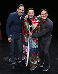 "Erik Lochtefeld, Marty Lawson and Eric William Morris during the Broadway Opening Night Actors' Equity Legacy Robe honoring Marty Lawson for ""King Kong - Alive On Broadway"" at the Broadway Theater on November 8, 2018 in New York City."