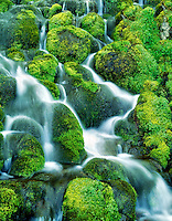 M00175M.tiff Mossy waterfall. Bird Creek Meadows, Washington