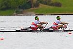 Rowing, Canada Lightweight Men's Double Sculls, Douglas Vandor, bow, Cameron Selvestor, stroke, 2010 FISA World Rowing Championships, Lake Karapiro, Hamilton, New Zealand, semifinal, Wednesday, November 3, 2010,