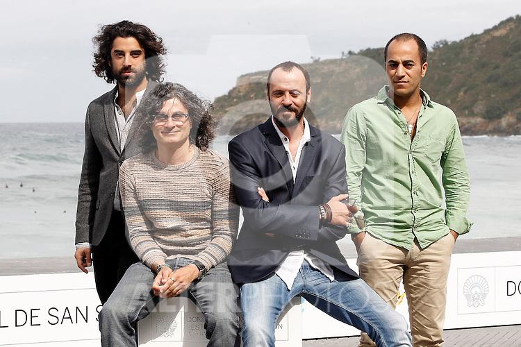 (L to R) Actor Karim Saleh, director Ziad Doueiri and actors Ramzi Maqdisi and Ali Suliman attend the photocall of 'The attack' during the 60th San Sebastian Donostia International Film Festival - Zinemaldia.September 25,2012.(ALTERPHOTOS/ALFAQUI/Acero)