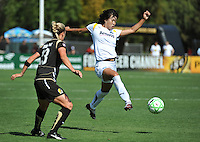 Kristen Graczyk, Han Duan. The Los Angeles Sol defeated FC Gold Pride, 2-0, at Buck Shaw Stadium in Santa Clara, CA on May 24, 2009.