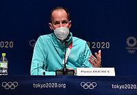 18th July 2021, Tokyo, Japan;  210718  Pierre Ducrey, Olympic Games,  Operations Director for the International Olympic Committee, attends a press conference, PK, Pressekonferenz at the Main Press Center MPC of Tokyo