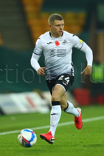 7th November 2020; Carrow Road, Norwich, Norfolk, England, English Football League Championship Football, Norwich versus Swansea City; Jake Bidwell of Swansea City