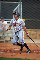 GCL Braves third baseman Austin Riley (32) at bat during a game against the GCL Astros on July 23, 2015 at the Osceola County Stadium Complex in Kissimmee, Florida.  GCL Braves defeated GCL Astros 4-2.  (Mike Janes/Four Seam Images)