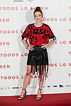 Carla Campra attends to 'Todos lo Saben' film photocall at Urso Hotel in Madrid, Spain. September 12, 2018. (ALTERPHOTOS/A. Perez Meca)