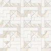 Centos, a stone waterjet mosaic, show in honed Calacatta Gold.  Design by Paul Schatz for New Ravenna.