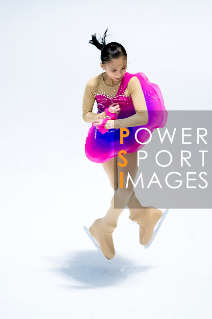 Hiu Yau Chow competes during the Asian Junior Figure Skating Challenge 2015 on October 07, 2015 at the Festival Walk Mall in Hong Kong, China. Photo by Aitor Alcalde/ Power Sport Images