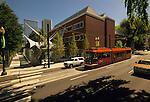Portland Art Museum with Streetcar