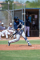 Milwaukee Brewers outfielder Anderson Melendez (94) swings at a pitch during an Instructional League game against the San Diego Padres at Peoria Sports Complex on September 21, 2018 in Peoria, Arizona. (Zachary Lucy/Four Seam Images)