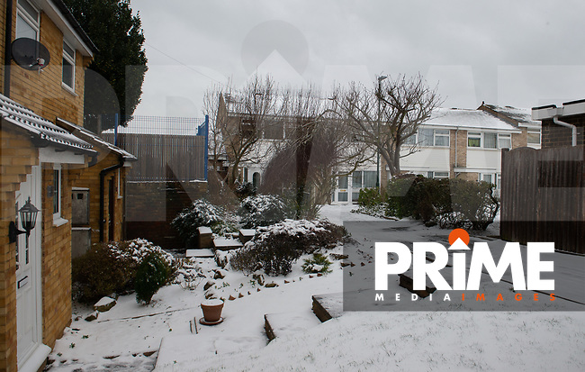 A general view following Heavy Snowfall at Sidcup, Kent, England on the 8 February 2021. Photo by Alan Stanford.