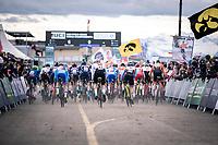 race start<br /> <br /> Men's U23 race<br /> UCI 2020 Cyclocross World Championships<br /> Dübendorf / Switzerland<br /> <br /> ©kramon