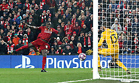 Liverpool's Sadio Mane sees his early second half close-range effort saved by Atletico Madrid's Jan Oblak<br /> <br /> Photographer Rich Linley/CameraSport<br /> <br /> UEFA Champions League Round of 16 Second Leg - Liverpool v Atletico Madrid - Wednesday 11th March 2020 - Anfield - Liverpool<br />  <br /> World Copyright © 2020 CameraSport. All rights reserved. 43 Linden Ave. Countesthorpe. Leicester. England. LE8 5PG - Tel: +44 (0) 116 277 4147 - admin@camerasport.com - www.camerasport.com
