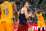 Herbalife Gran Canaria's player Royce O'Neale and Bo McCalebb and FC Barcelona Lassa players Victor Claver during the final of Supercopa of Liga Endesa Madrid. September 24, Spain. 2016. (ALTERPHOTOS/BorjaB.Hojas)