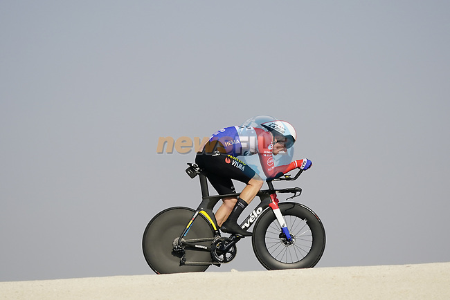 Dutch Champion Jos Van Emden (NED) Team Jumbo-Visma during Stage 2 of the 2021 UAE Tour an individual time trial running 13km around Al Hudayriyat Island, Abu Dhabi, UAE. 22nd February 2021.  <br /> Picture: Eoin Clarke | Cyclefile<br /> <br /> All photos usage must carry mandatory copyright credit (© Cyclefile | Eoin Clarke)