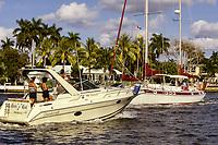 Ft. Lauderdale, Florida - Saturday Drive, Inland Waterway.