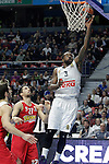 Real Madrid's K.C: Rivers during Euroleague match. January 28,2016. (ALTERPHOTOS/Acero)