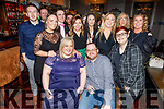 Lorraine Byrne from Tralee and David Harney from Roscommon (seated) celebrating their engagement in the Fiddler Bar, Tralee on Saturday night.