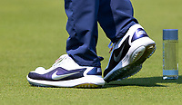 Rory McIlroy Nike golfing shoes during Practice Day at BMW PGA Championship Wentworth Golf at Wentworth Drive, Virginia Water, England on 22 May 2018. Photo by Andy Rowland.
