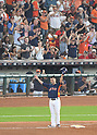 Norichika Aoki of the Houston Astros celebrates 2000th career hit