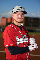 Great Lakes Loons outfielder Alex Verdugo (9) poses for a photo before a game against the Dayton Dragons on May 21, 2015 at Fifth Third Field in Dayton, Ohio.  Great Lakes defeated Dayton 4-3.  (Mike Janes/Four Seam Images)
