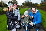 Sharon, Sam, Jamie and Alan Curran from Blennerville enjoying a stroll in the town park on Saturday.