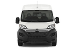 Car photography straight front view of a 2015 Citroen JUMPER L2H2 5 Door Cargo Van Front View