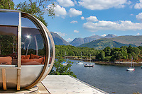 BNPS.co.uk (01202) 558833. <br /> Pic: Bidwells/BNPS<br /> <br /> Pictured: The panoramic views.<br /> <br /> Better than a gravy boat...<br /> <br /> A striking country house built by a bishop as a wedding gift for his son is on the market for offers over £2m.<br /> <br /> Dunbeg House sits in an incredible position on the bank of a loch with stunning panoramic water and mountain views.<br /> <br /> The impressive property not only includes the five-bedroom main house, but also a two-bedroom cottage that has been run as a successful holiday let and over four acres of woodland garden.