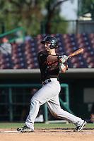 Joe Hudson #4 of the Bakersfield Blaze bats against the Inland Empire 66ers at San Manuel Stadium on August 21, 2014 in San Bernardino, California. Inland Empire defeated Bakersfield, 3-1. (Larry Goren/Four Seam Images)
