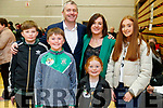 Pa Daly, Sinn Fein with his wife Mary and children Sean, Fionn, Farren and Ailbhe at the General Election count in Killarney on Sunday.