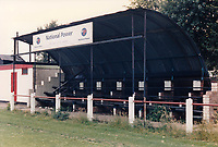 General view of Selby Town FC, Flaxley Road, Selby, North Yorkshire, pictured on 16th July 1991