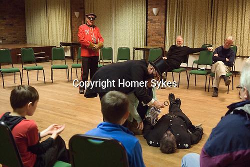 Antrobus Soul Caking Play. Antrobus Cheshire Uk. Village Hall performance. 2012.