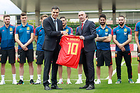 The President of the Government of Spain Pedro Sanchez (l) in presence of RFEF's President Luis Rubiales visits the national soccer team training session. June 5,2018.(ALTERPHOTOS/Acero) /NortePhoto.com NORTEPHOTOMEXICO