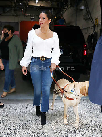 NE YORK, NY- September 13: Anastasia Pagonis exits Live with Kelly & Ryan after promoting her gold medal win at the Tokyo 2020 Paralympic Games in New York City on September 13, 2021 Credit: RW/MediaPunch
