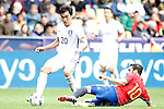 Spain's Cesc Fabregas (r) and South Korea's Hyunsoo Jang during friendly match. June 1,2016.(ALTERPHOTOS/Acero)
