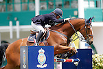 Spain's jockey Marta Testor with the horse Zapping during 102 International Show Jumping Horse Riding, King's College Trophy. May, 20, 2012. (ALTERPHOTOS/Acero)