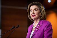 Speaker of the United States House of Representatives Nancy Pelosi (Democrat of California) offers remarks during her weekly  press conference at the US Capitol in Washington, DC, Wednesday, July 28, 2021. Credit: Rod Lamkey / CNP /MediaPunch