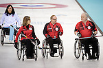 Sonja Gaudet, Dennis Thiessen, and Jim Armstrong, Sochi 2014 - Wheelchair Curling // Curling en fauteuil roulant.<br />