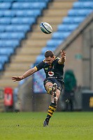6th February 2021; Ricoh Arena, Coventry, West Midlands, England; English Premiership Rugby, Wasps versus Northampton Saints; Jimmy Gopperth of Wasps takes the restart kick