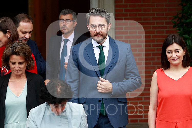 Maxim Huerta, Minister of Culture and Sport after the first Council of Ministers of the new Government of Spain, chaired by Pedro Sanchez. June 8,2018. (ALTERPHOTOS/Acero)