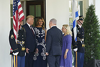 United States President Donald J. Trump and first lady Melania Trump welcomes Prime Minister Benjamin Netanyahu of Israel, and his wife Sara, to the White House in Washington, DC on Tuesday, September 15, 2020.  Netanyahu is in Washington to sign the Abraham Accords, a peace treaty with the State of Israel.<br /> Credit: Chris Kleponis / Pool via CNP /MediaPunch