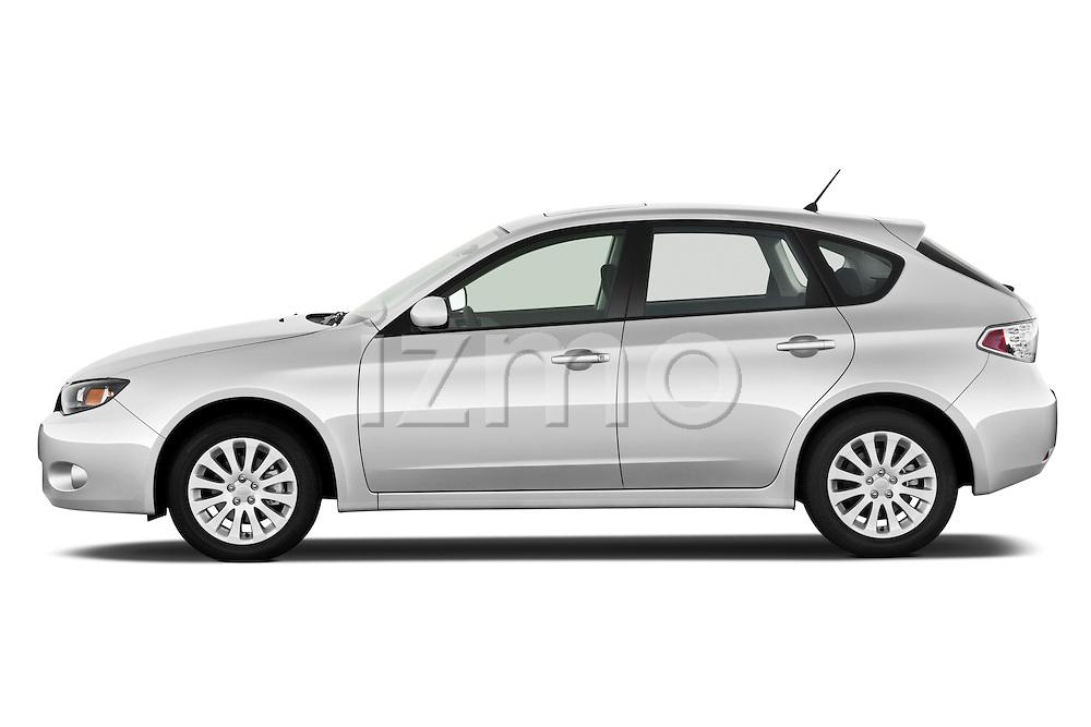 Driver side profile view of a 2010 Subaru Impreza Wagon 2.5i Premium.