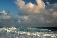 Waves off beach in Kauai, Hawaii