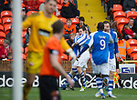 Dundee Utd v St Johnstone..26.12.12      SPL.Peter Pawlett celebrates the saints equaliser which went in off Brian McLean for an own goal (pictured in foreground).Picture by Graeme Hart..Copyright Perthshire Picture Agency.Tel: 01738 623350  Mobile: 07990 594431