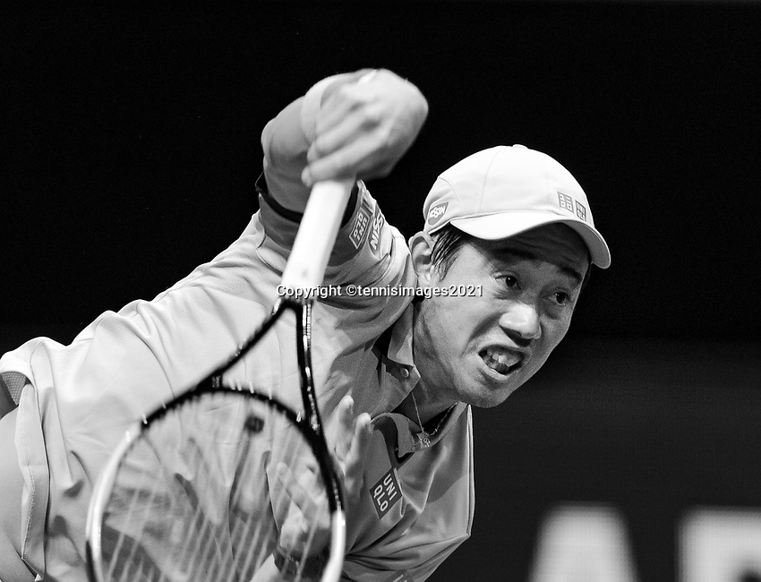 Rotterdam, The Netherlands, 3 march  2021, ABNAMRO World Tennis Tournament, Ahoy, First round doubles:  Kei Nishikori (JPN) Alex De Minaur (AUS).<br /> Photo: www.tennisimages.com/henkkoster