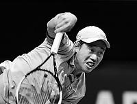 Rotterdam, The Netherlands, 3 march  2021, ABNAMRO World Tennis Tournament, Ahoy, First round doubles:  Kei Nishikori (JPN) Alex De Minaur (AUS).<br /> Photo: www.tennisimages.com/henkkoster