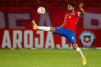 13th November 2020; National Stadium of Santiago, Santiago, Chile; World Cup 2020 Football qualification, Chile versus Peru;  Mauricio Isla of Chile brings down a high pass