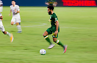 CARSON, CA - OCTOBER 07: Eryk Williamson #30 of the Portland Timbers  moves with the ball during a game between Portland Timbers and Los Angeles Galaxy at Dignity Heath Sports Park on October 07, 2020 in Carson, California.
