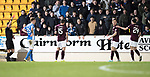 St Johnstone v Hearts…05.04.17     SPFL    McDiarmid Park<br />Ref Nick Walsh sends off Sam Nicholson<br />Picture by Graeme Hart.<br />Copyright Perthshire Picture Agency<br />Tel: 01738 623350  Mobile: 07990 594431
